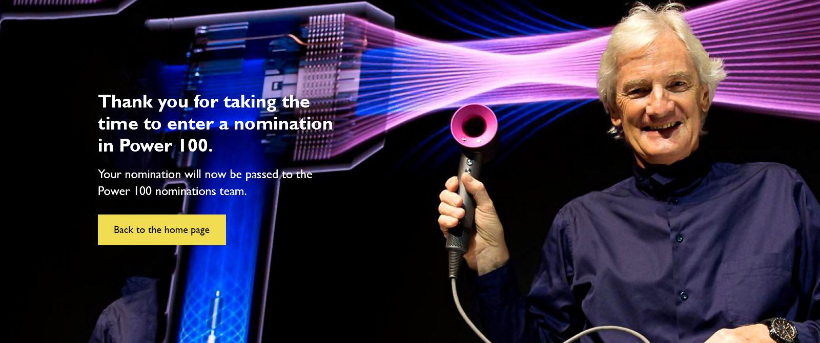 Nominations thanks